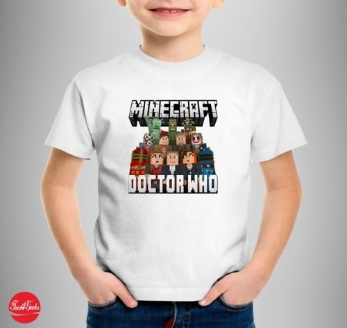 Doctor Who Themed Minecraft T-shirt